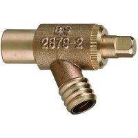 Brass drain off valve
