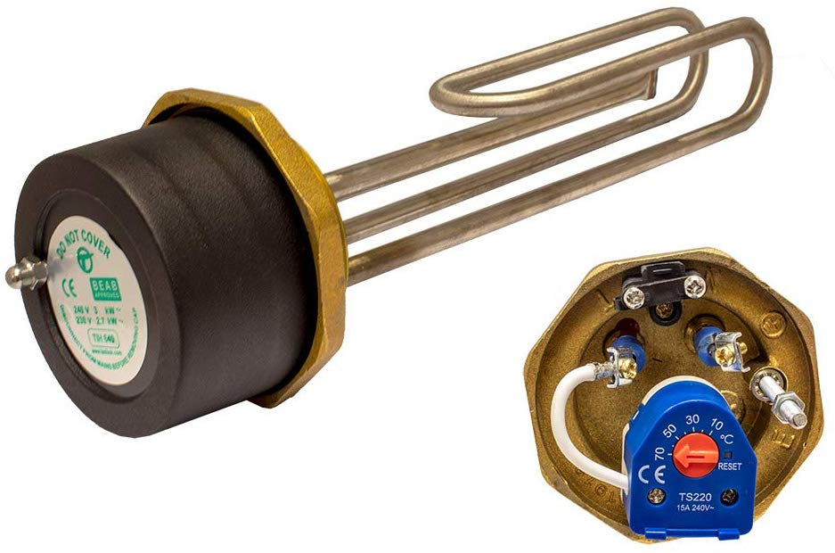immersion heater with thermostat
