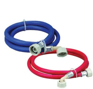 How to install a washing machine hose red and blue