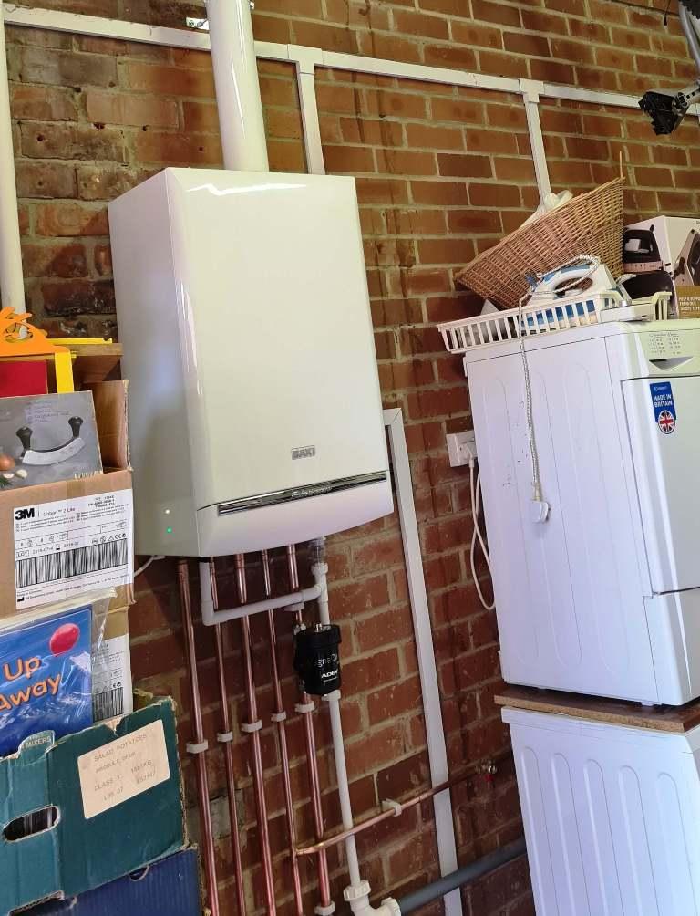 Baxi Boiler Installation with vertical flue