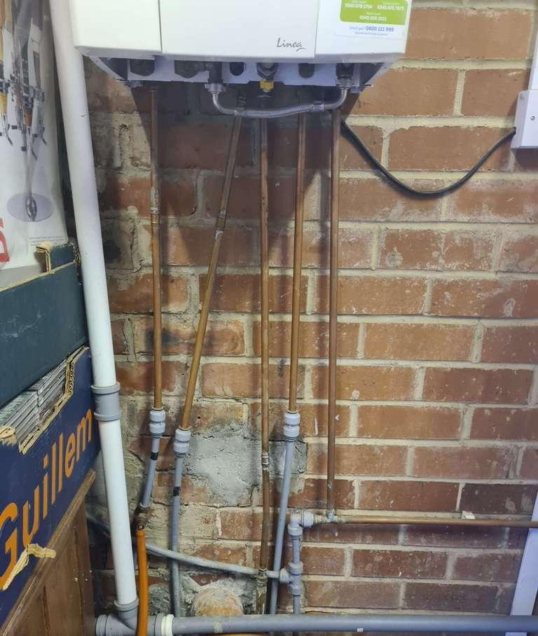 Baxi boiler installation before