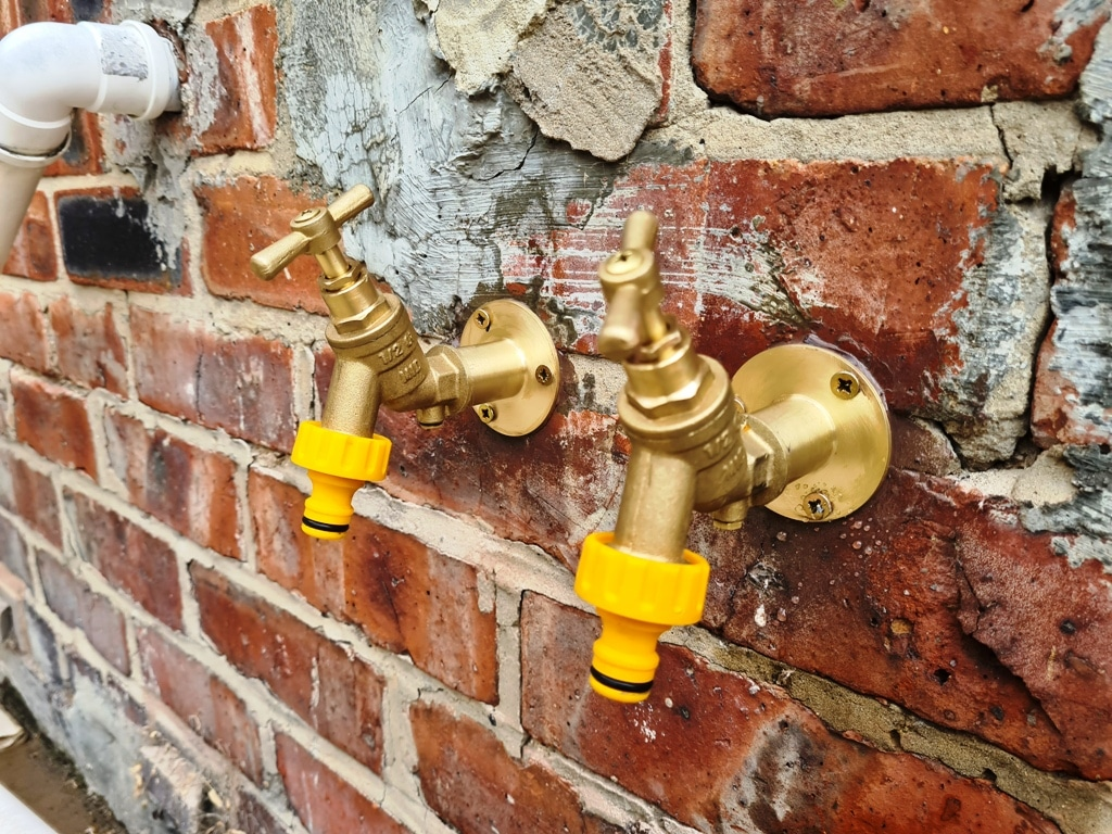 Pair of Outside Taps Fitted